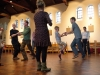 ceilidh dancing happened - fuelled by a barrel of Shotover Prospect ale!