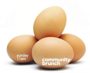 community brunch flier