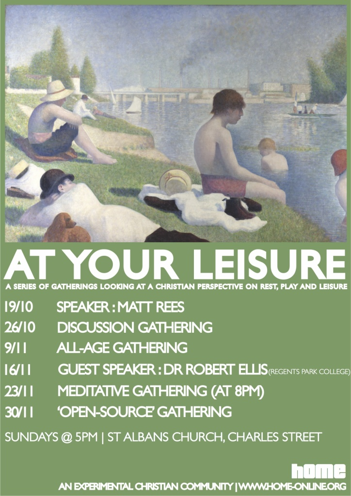 'at your leisure' cycle poster final