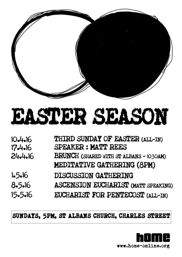 Easter Season 2016 A4 Poster